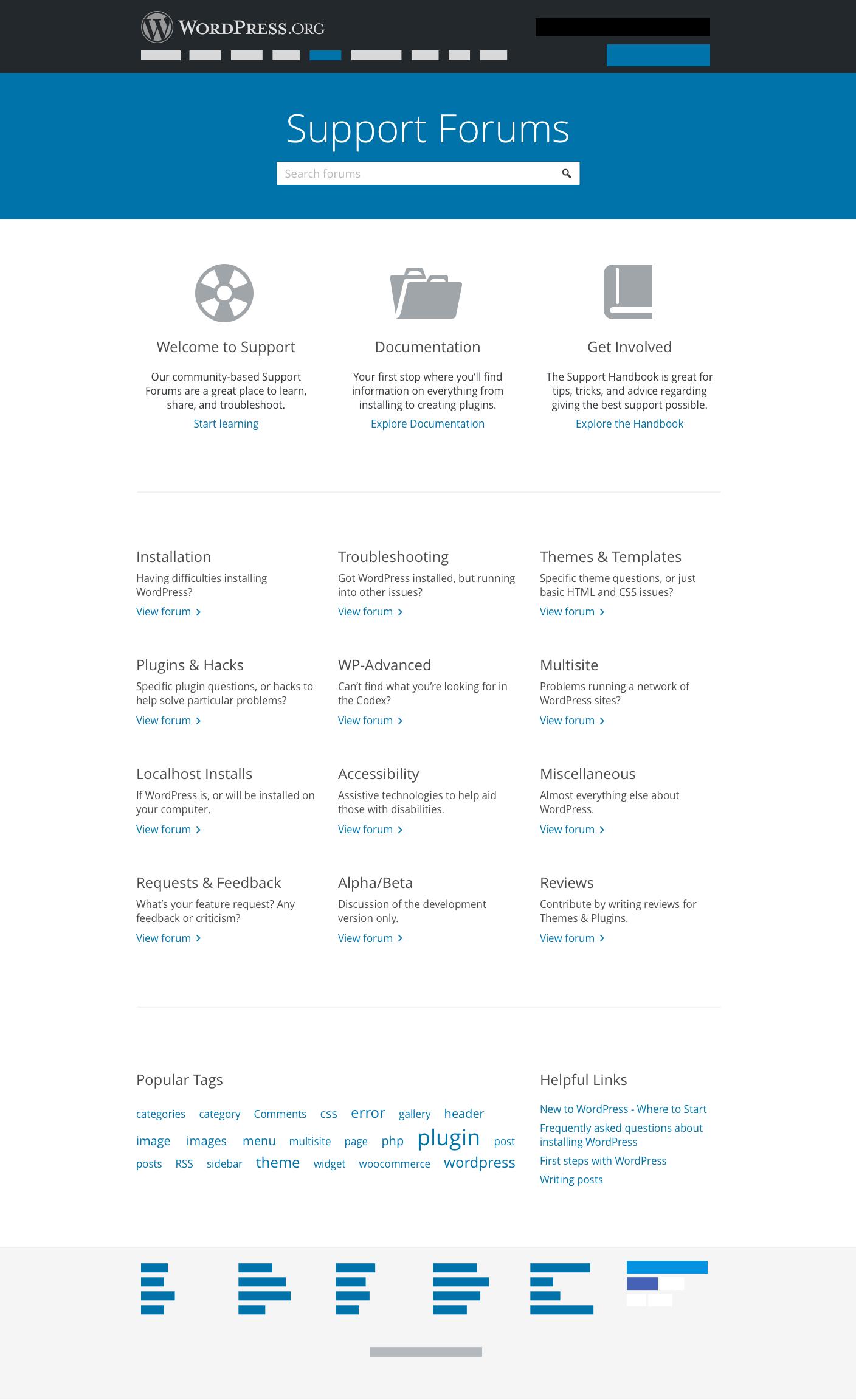 Support Forum Preliminary Mockups – Make WordPress org