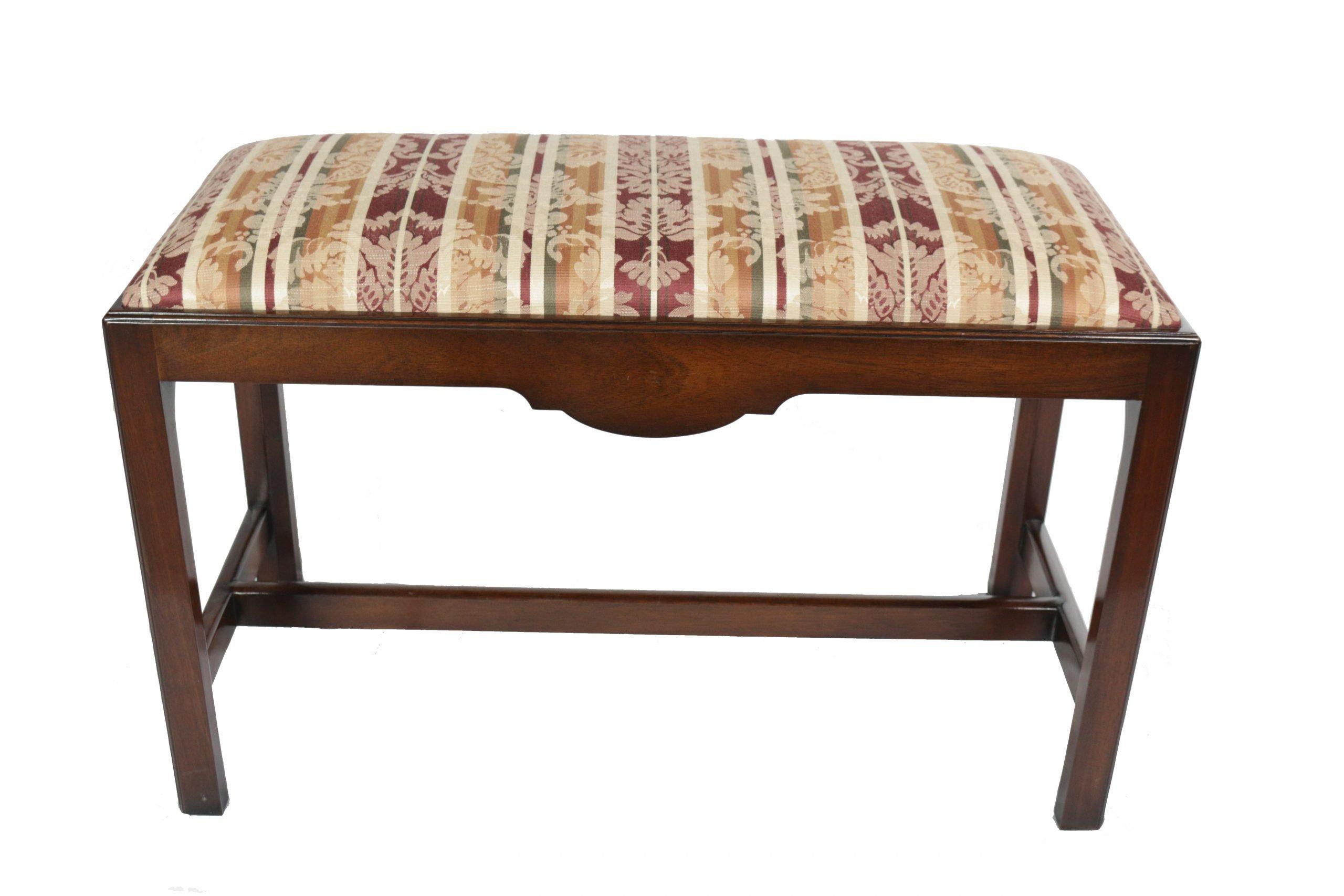 dark wood pillow top benches