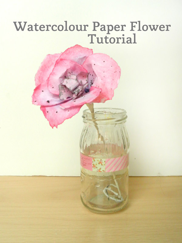 Watercolour Paper Flowers Make And Fable