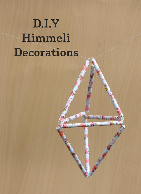 Geometric Himmeli Floral Decorations DIY