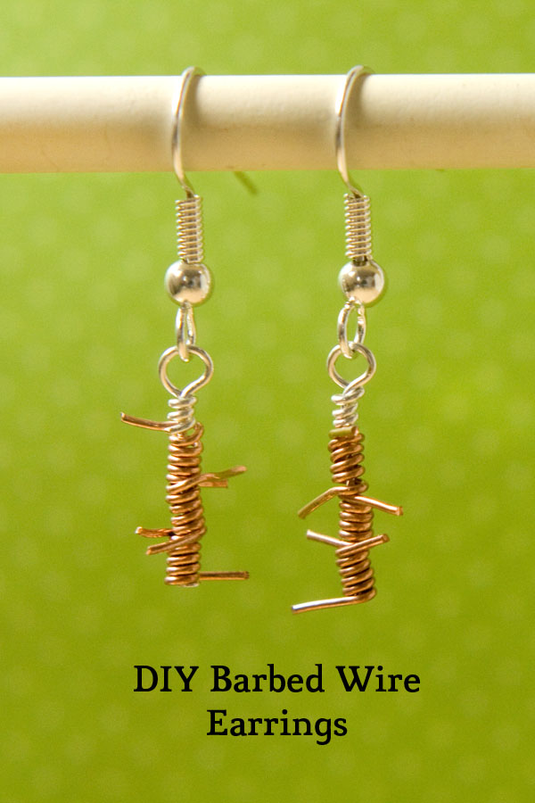 Tutorial Barbed Wire Earrings Make And Fable