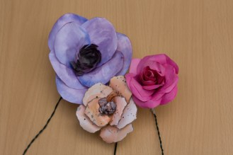 Handpainted Paper Flowers
