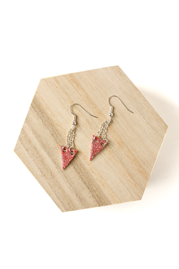 Glitter Varnish Earrings