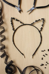 DIY Beaded Sparkly Cat Ears