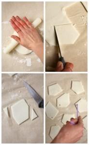 Geometric Clay Christmas Decorations