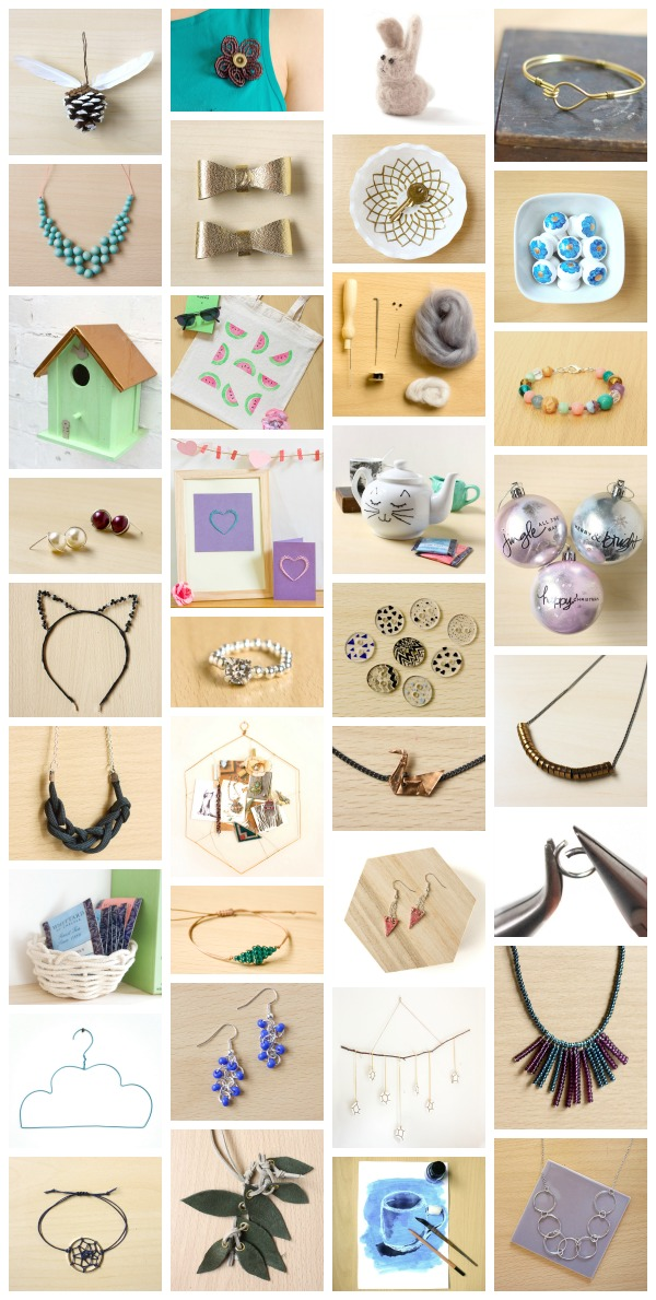 Craft and Jewellery DIY Tutorials from Make and Fable in 2014