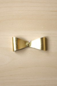 Faux Leather Bow Accessory