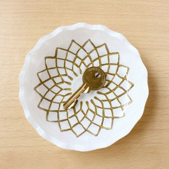 Painted Gilded Glass Dish