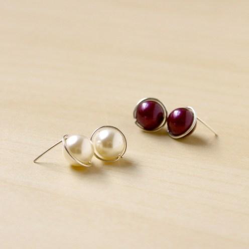 Simple Pearl Stud Earrings