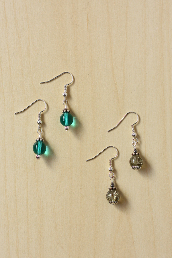 bead caps and spacer earrings