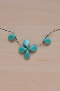 Pip bead right angle weave necklace