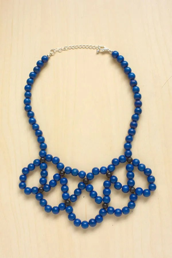 beaded statement collar necklace DIY