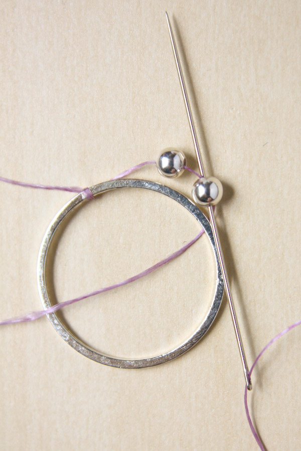 DIY Silver Bead Earring Tutorial