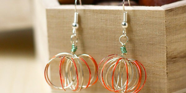 Wire Pumpkin Earrings DIY