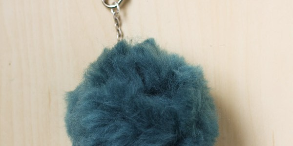 Fluffy Pom Pom Bag / Key Charm