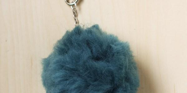 Fluffy Pom Pom Bag / Key Charm