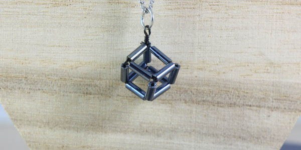 Geometric Cube Necklace DIY