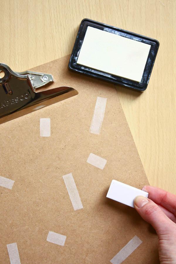Confetti Print Clipboard DIY