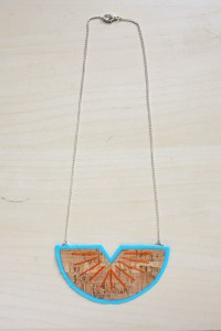 Cork Fabric Statement Necklace DIY Tutorial