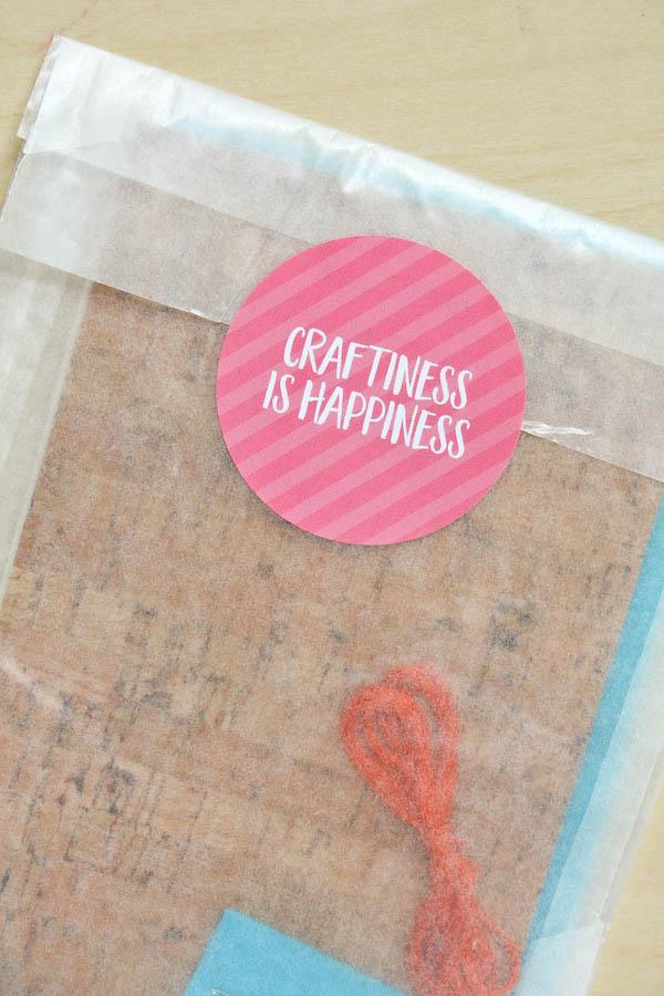 Cork Fabric Statement Necklace DIY Tutorial