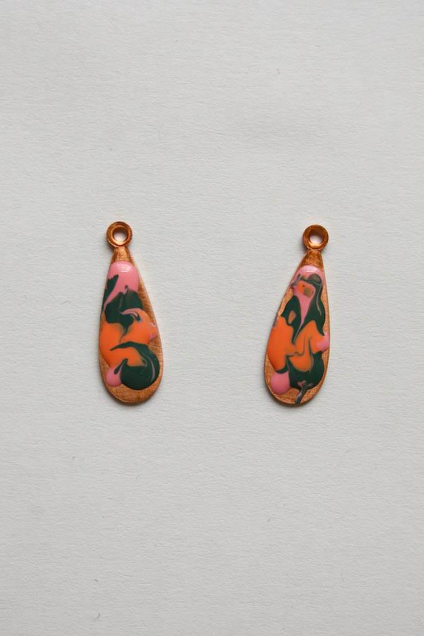 Marbled Earrings DIY Tutorial