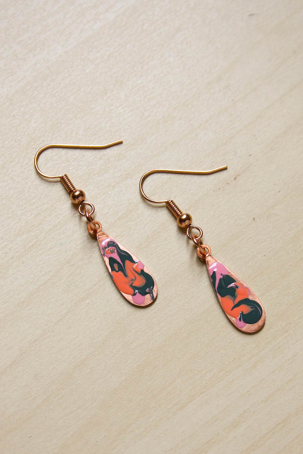 Marbled Earrings DIY Tutorial