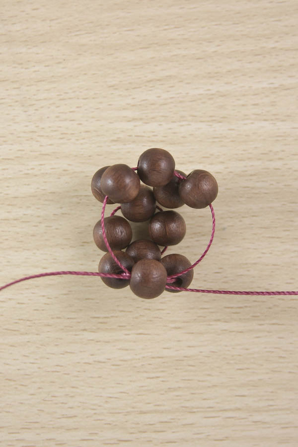 Wooden beaded bauble DIY Tutorial by Make and Fable