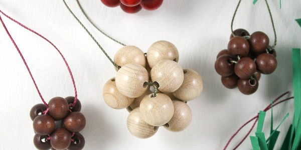 Wooden Beaded Baubles DIY