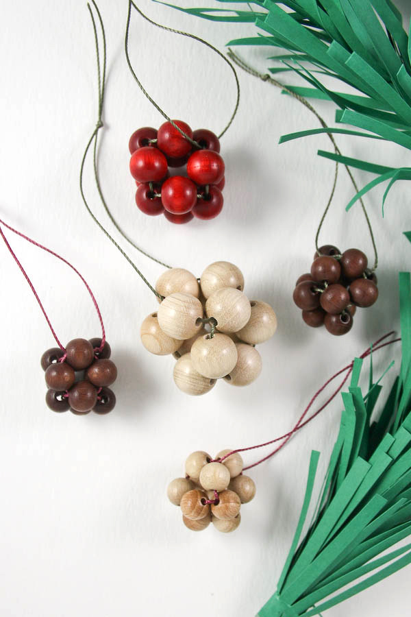 Make Scandi style wooden beaded baubles to hang on you Christmas Tree this year! Perfect for adding a natural feel to your decorations.