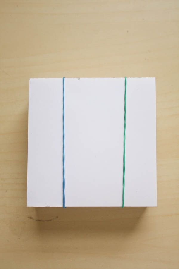 Painted Notepad DIY Tutorial by Make and Fable