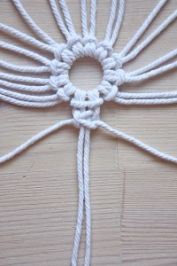 Macrame Snowflake DIY Christmas tutorial by Make and Fable