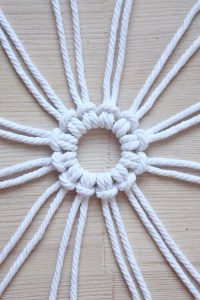Macrame Snowflake DIY Christmas tutorial by Make and Fable