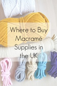 Where to buy Macrame Supplies in the UK