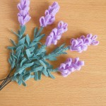 How to make felt flowers - lavender tutorial by Make and Fable