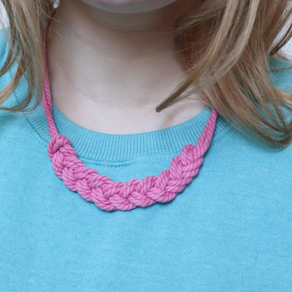 Macrame Braid Necklace Tutorial by Make and Fable 29