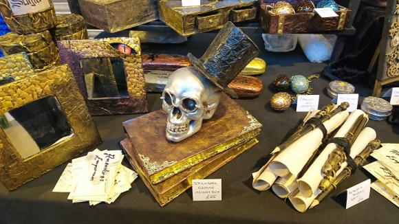 Amandora's Emporium at the Make & Mend Market, handmade curiosities, gifts, gift boxes and keepsake boxes with a steampunk style.