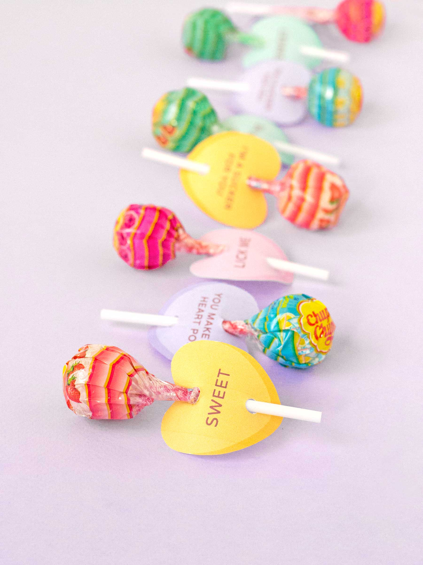 Printable Conversation Heart Lollipop Holders Make And Tell