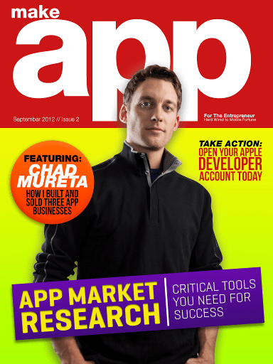 MAKE APP Issue 2 Cover Featuring Chad Mureta