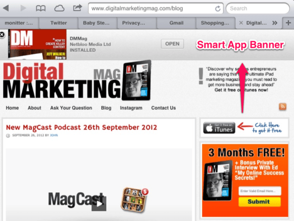 How To Create A Banner For iOS Apps On Your Website (Smart