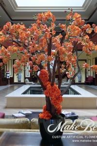 Makebe-leaves-artificial-5ft-Orange-Orchids-item220