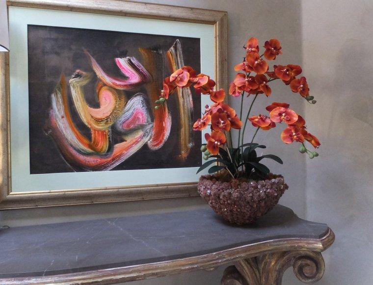 Orange phaleanopsis orchid