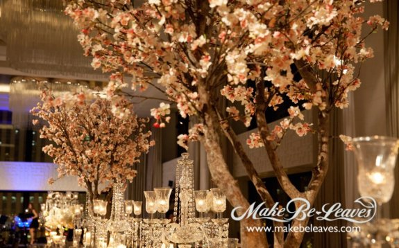 makebeleaves faux wedding trees