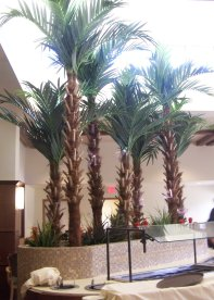 artificial palm trees