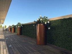 custom planting UV exterior faux living walls