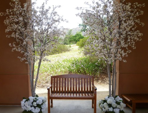 Event faux flower rental Faux Pink and White Cherry blossom trees