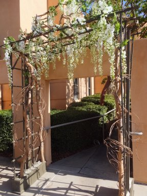 Event flower rental White Wisteria Trellises