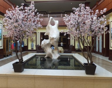 Event faux flower rental Pink and White Cherry Blossom Trees