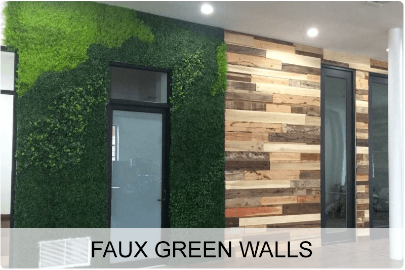 Faux Green Walls