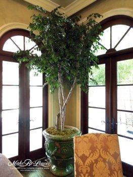 9ft Artificial Camellia Leaf Tree