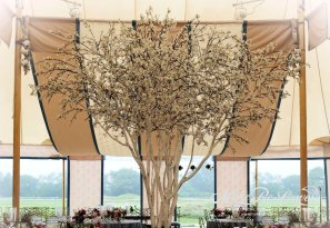 faux 14ft white blossoming cherry tree